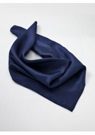 Solid Navy Blue Neck Scarf