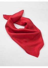 Bright Red Womans Scarf