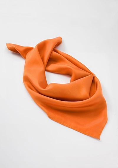 Solid Orange Womens Scarf
