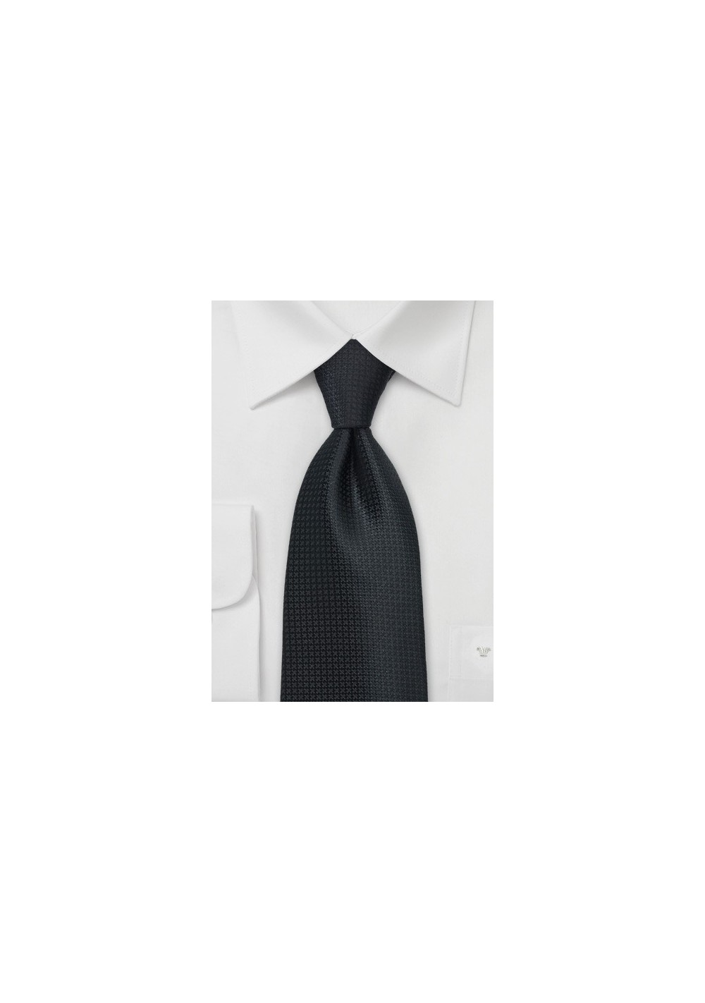Textured Black Tie