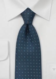 Traditional Tie in Caspian Blue