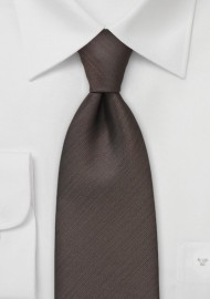 Textured Tie in Dark Brown