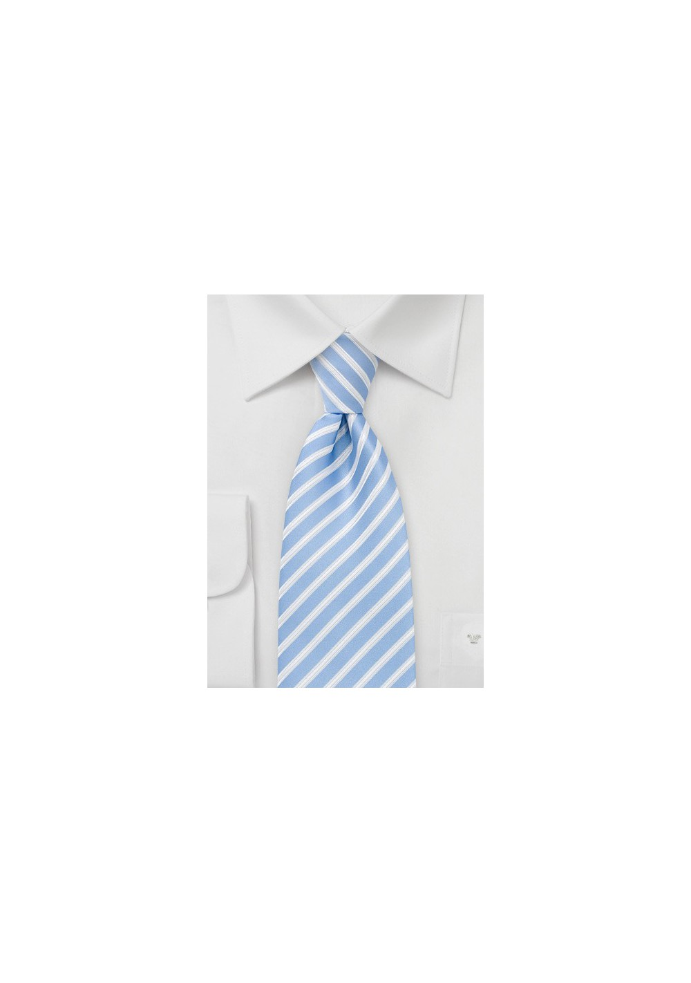Striped Tie in Summer Blue