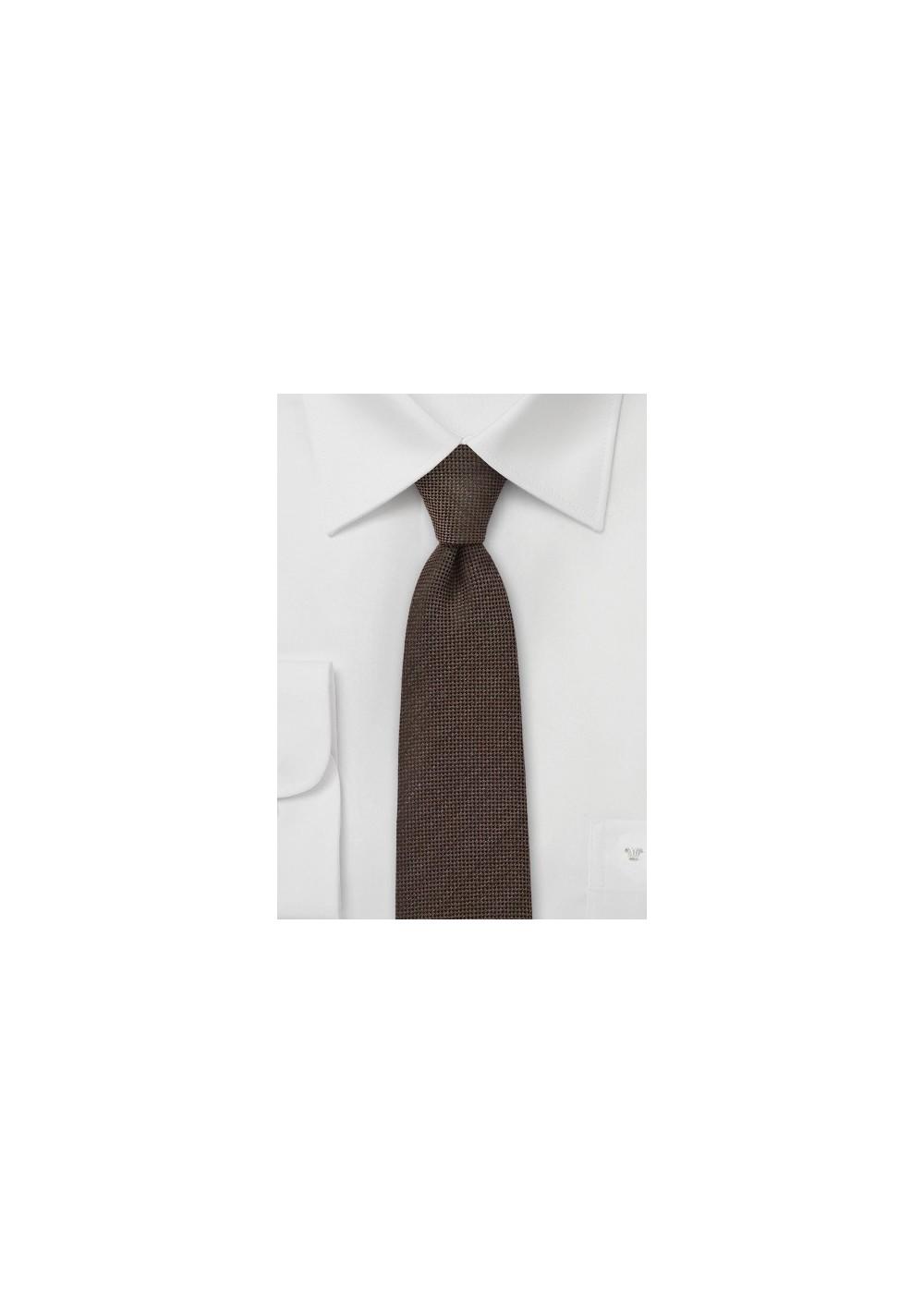Espresso Brown Skinny Tie by BlackBird