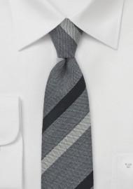 BlackBird Designer Tie in Gray and Black