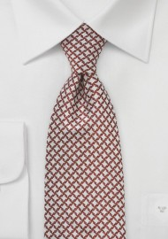 Artisan Tie in Chestnut and Ivory