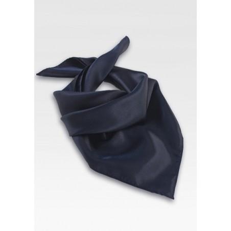 Dark Navy Blue Neck Scarf