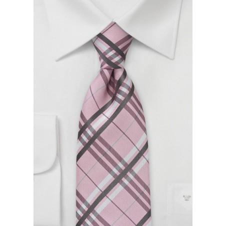 Modern Plaid in Soft Pink