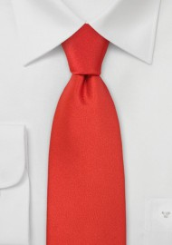 Scarlet Red Necktie in Kids Size
