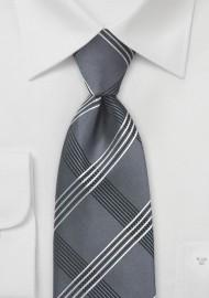 Modern Plaid in Graphite Grey