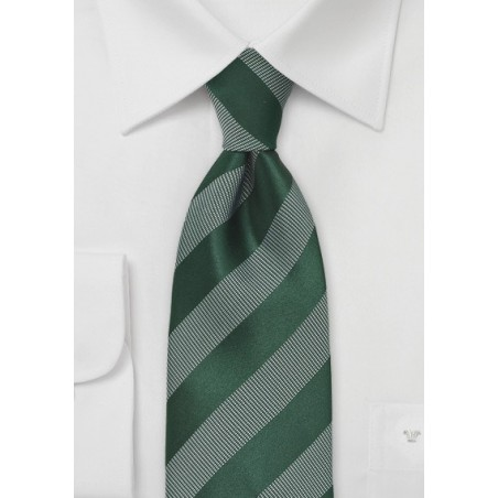 Muted Green Striped Tie