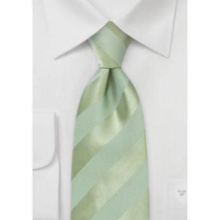 Striped Tie in Moss Green
