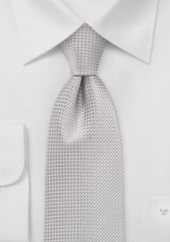 Textured Light Silver Tie