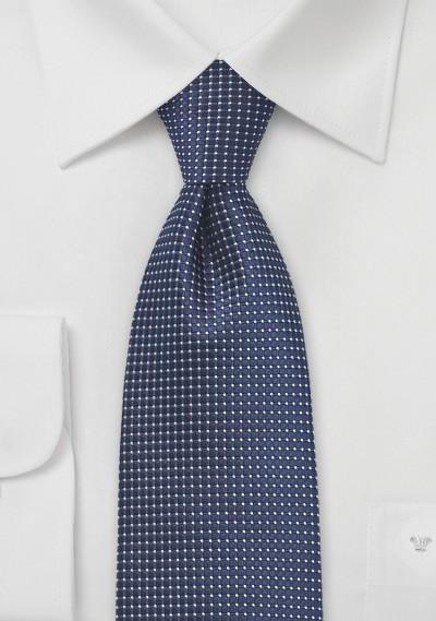 Pin Dot Tie in Navy Blue