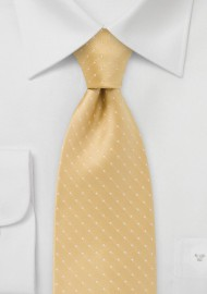 Kids Length Dark Yellow Polka Dot Tie