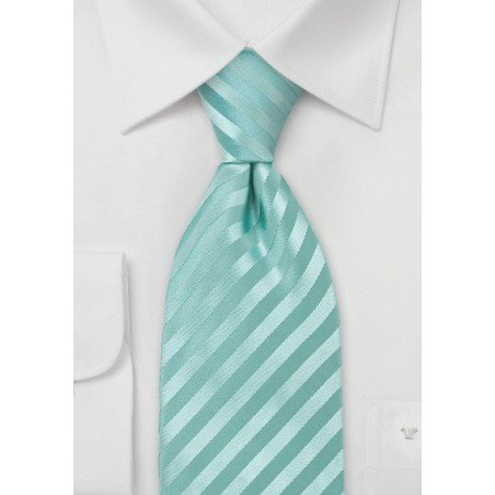 Kids Sized Silk Tie in Mint-Green