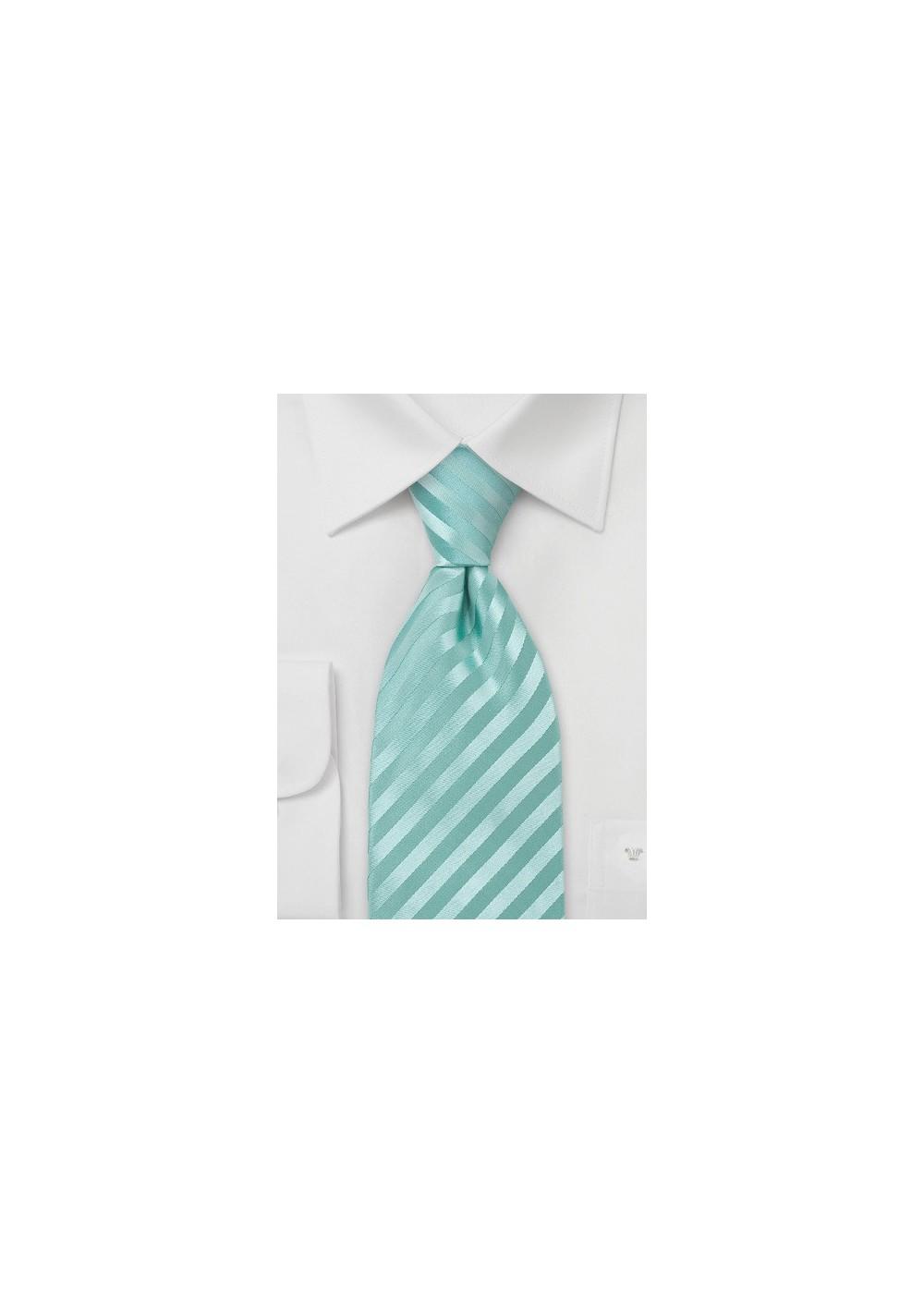 Extra Long Mens Silk Tie in Mint-Green