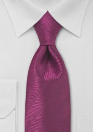 Magenta Red Necktie in Extra Long Length