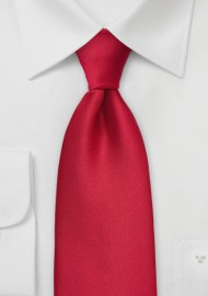 Solid Cherry Red Kids Length Tie