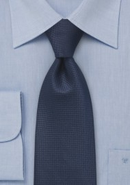 Textured Tie in Indigo Blue