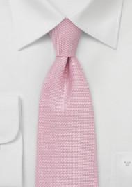 Pink Grenadine Textured Necktie
