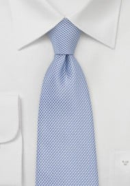 Grenadine Textured Tie in Baby Blue