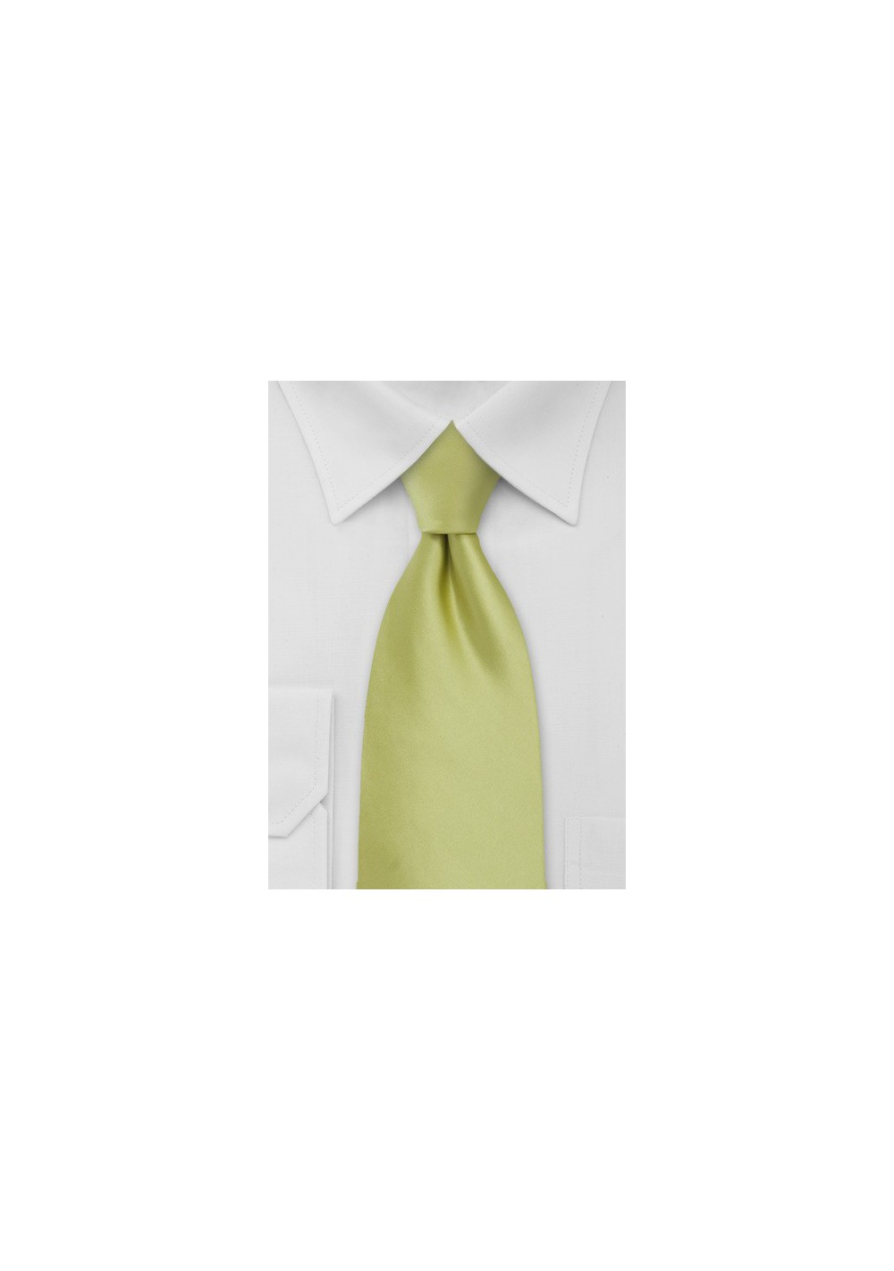 Light Pear Green Necktie in XL Length