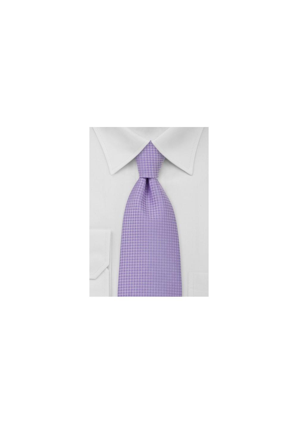 Kids Necktie in Pastel Lavender