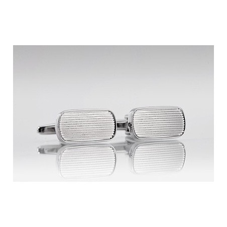 Oval Shaped Grooved Cufflinks