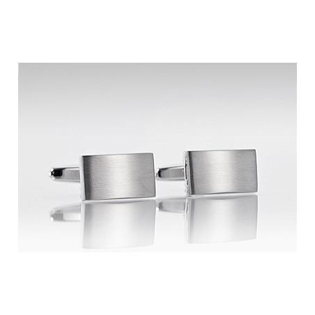 Streamlined Cufflinks in Polished Steel