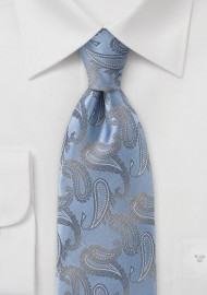Classic Paisley Motif in Light Blue