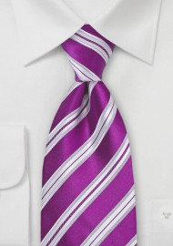 Bright Purple-Pink Silk Tie for Kids