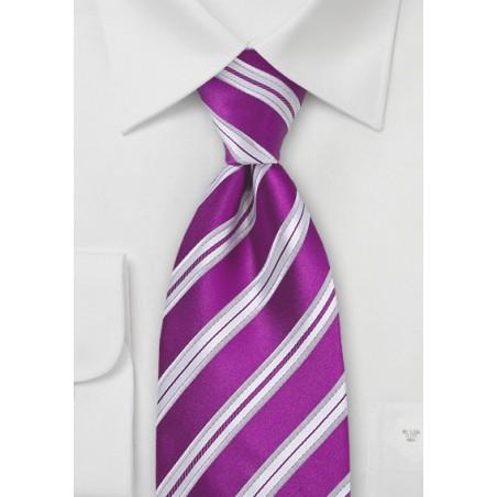 Bright Purple-Pink Silk Tie for Kids