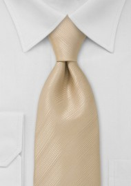 Champagne Beige Necktie Made in Long Length