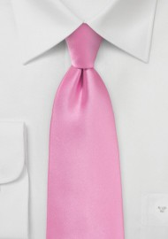 Solid Bright Pink Necktie for Kids
