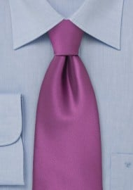 Solid Dark Lilac Purple Tie for Kids