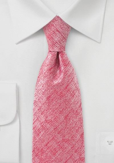 Heathered Coral Colored Tie