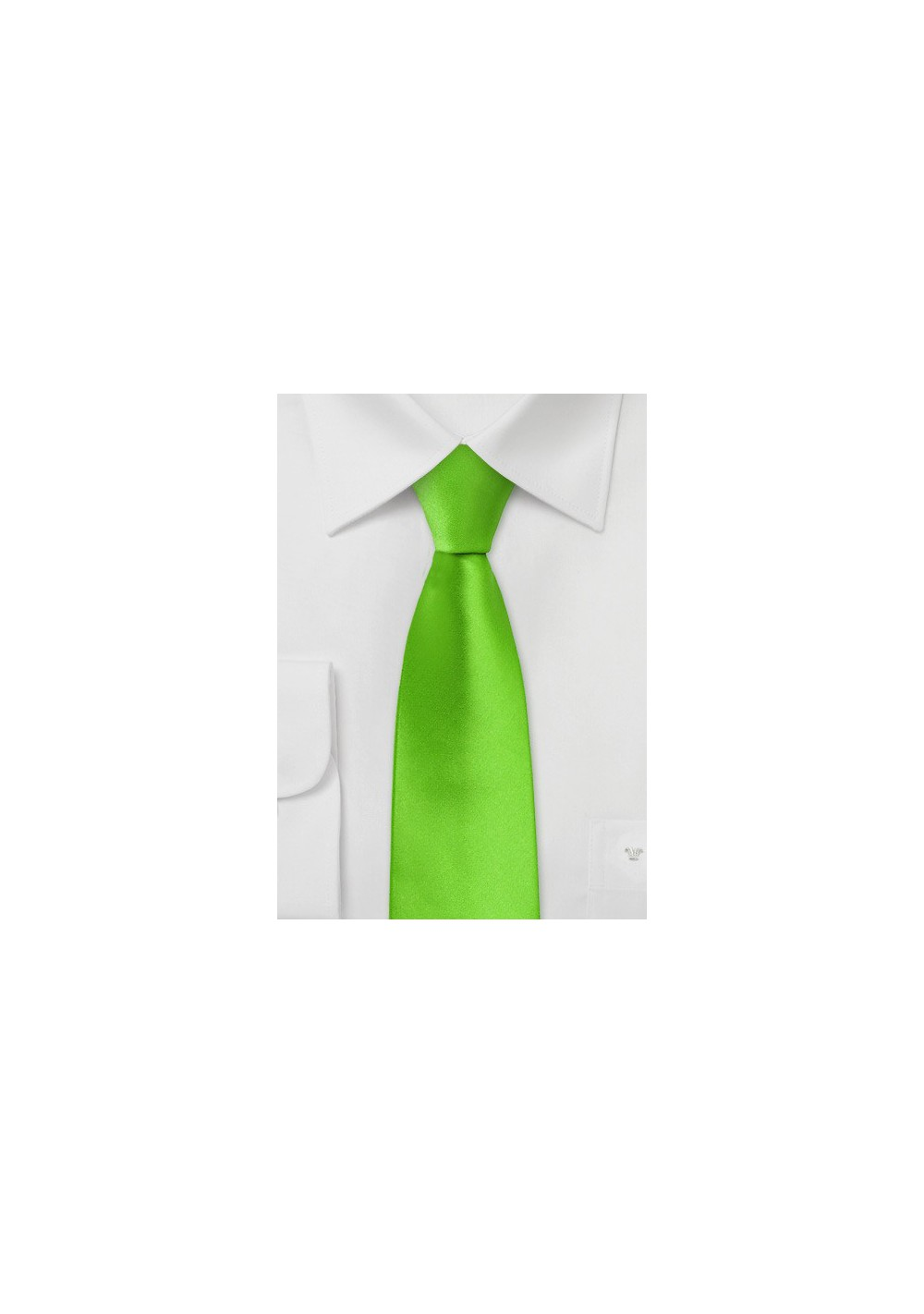 Bright Lime Green Skinny Tie