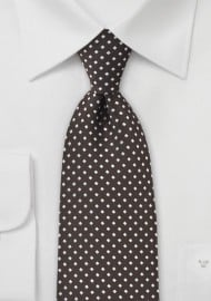Espresso Brown and Silver Necktie