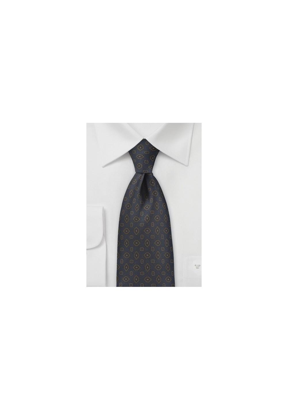 Gemstone Paisley Tie in Midnight Blue