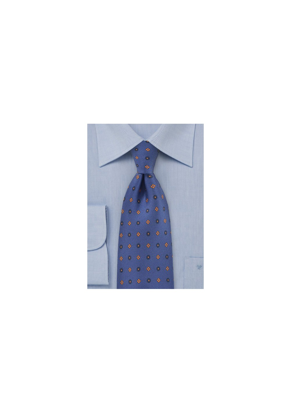 Punchy Floral Patterned Tie in Horizon