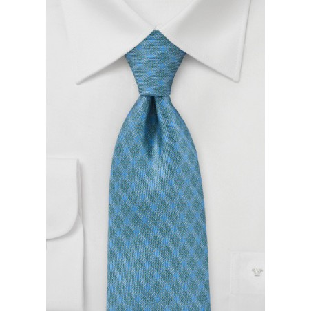 Graphic Tie in Teals, Greens and Yellows