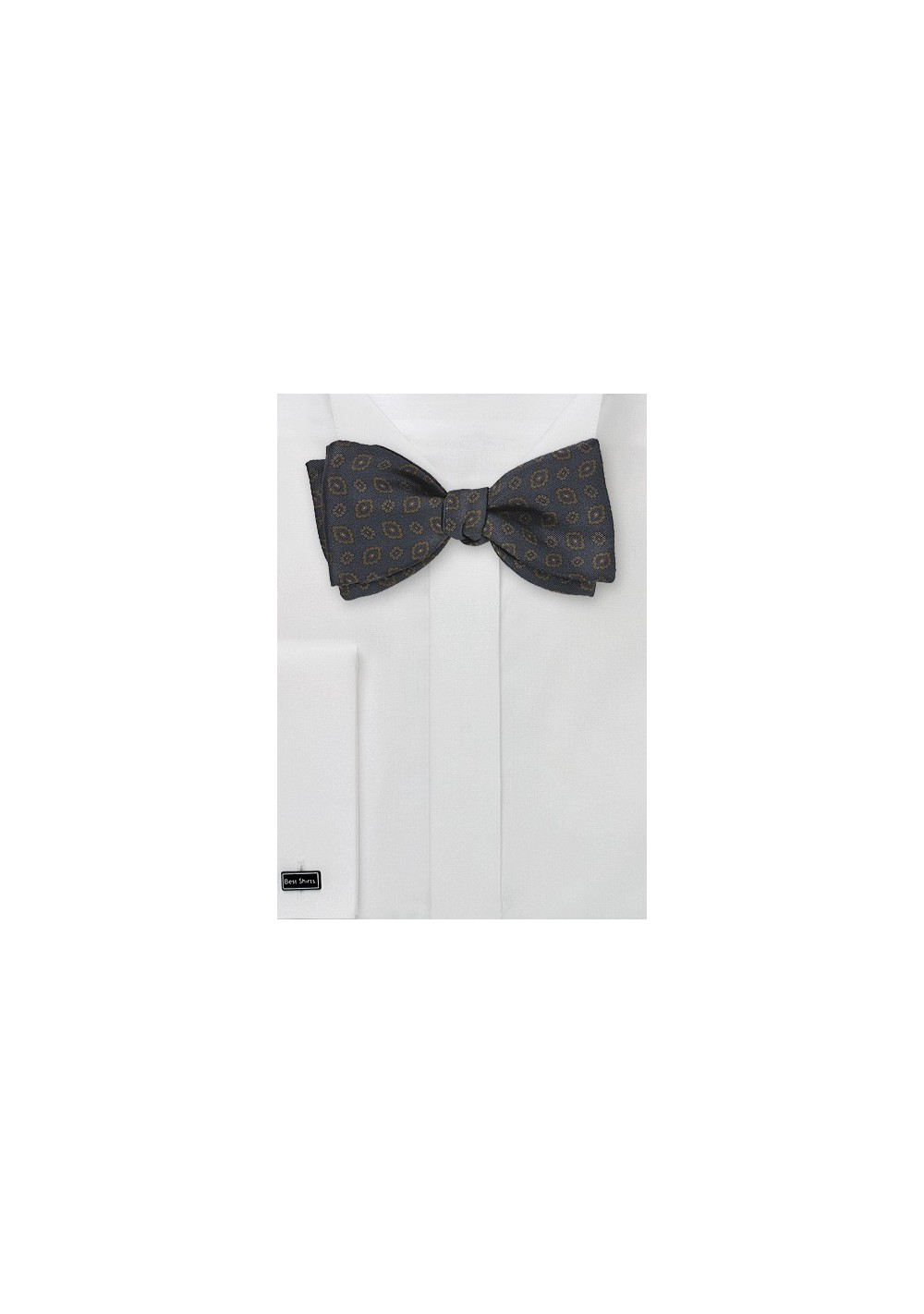 Uber Regal Bow Tie in Navy and Copper