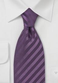 XL Light Eggplant Silk Tie