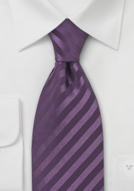Light Eggplant Silk Tie for Kids