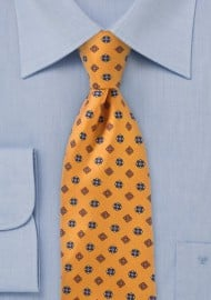 Budding Floral Diamond Tie in Golds