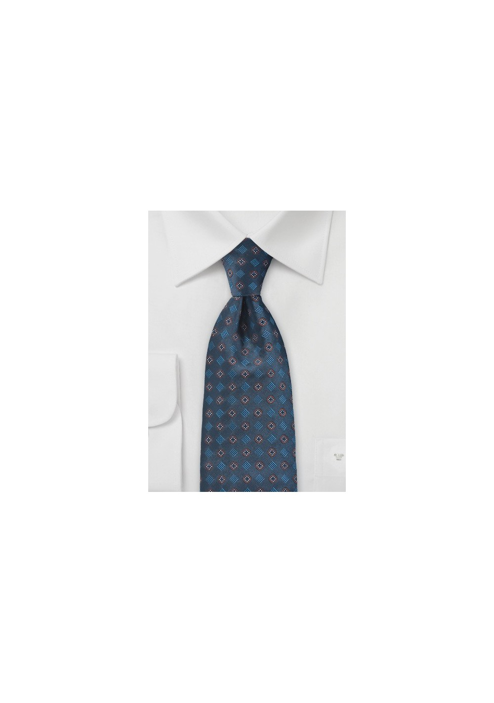 Dash For The Dots Tie in Elegant Blue