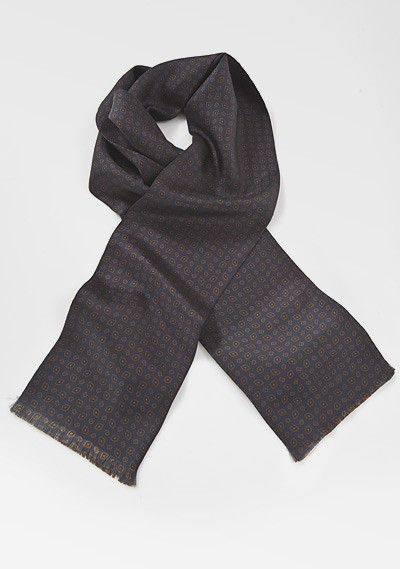 Regal Scarf in Midnight and Copper