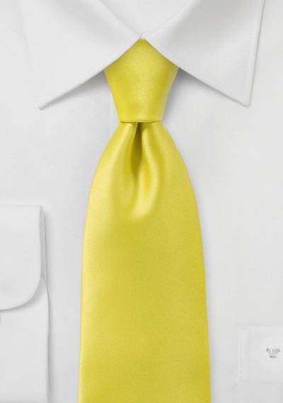 Proper Solid Yellow Necktie