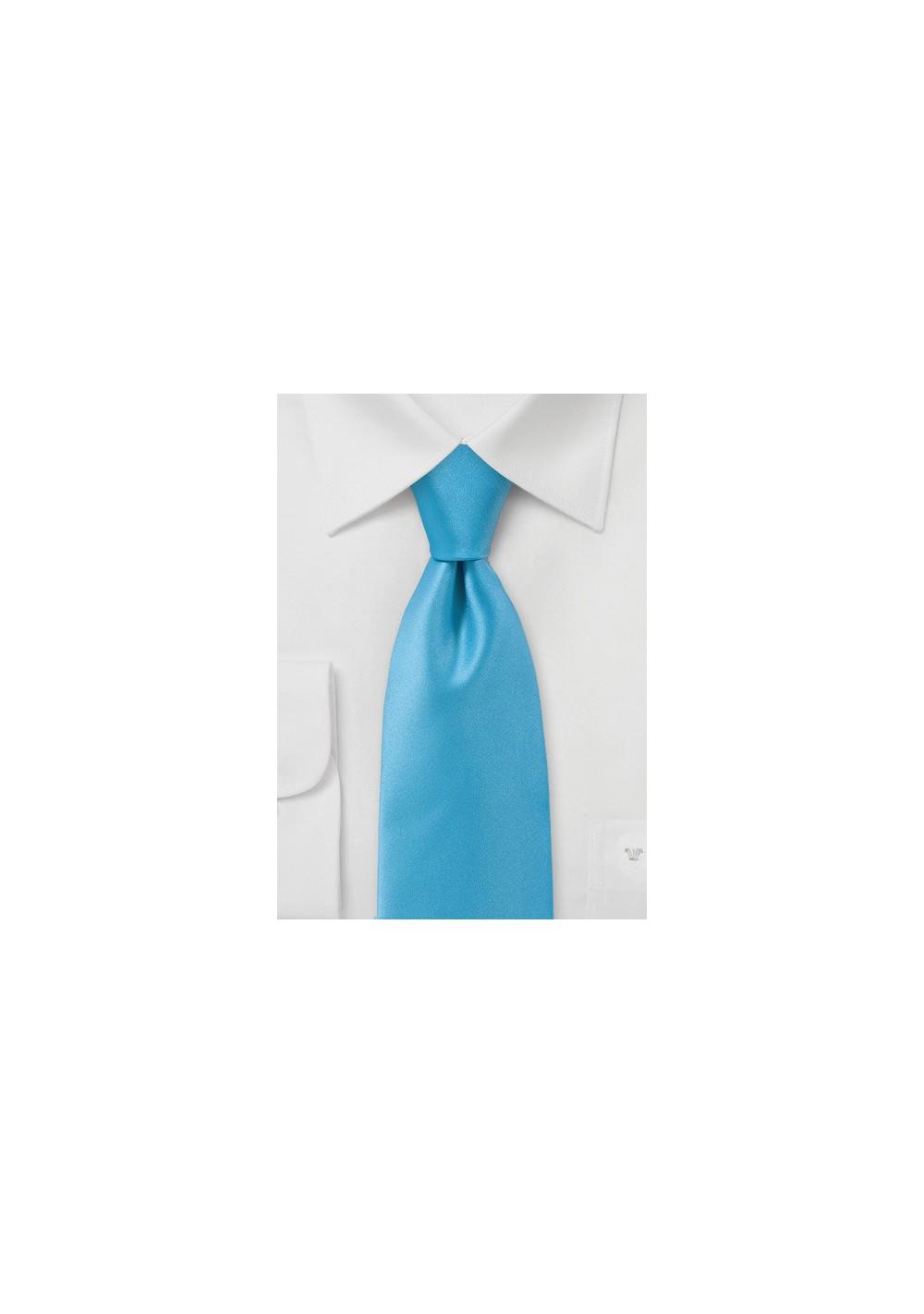 Solid Color Tie in Mermaid Blue